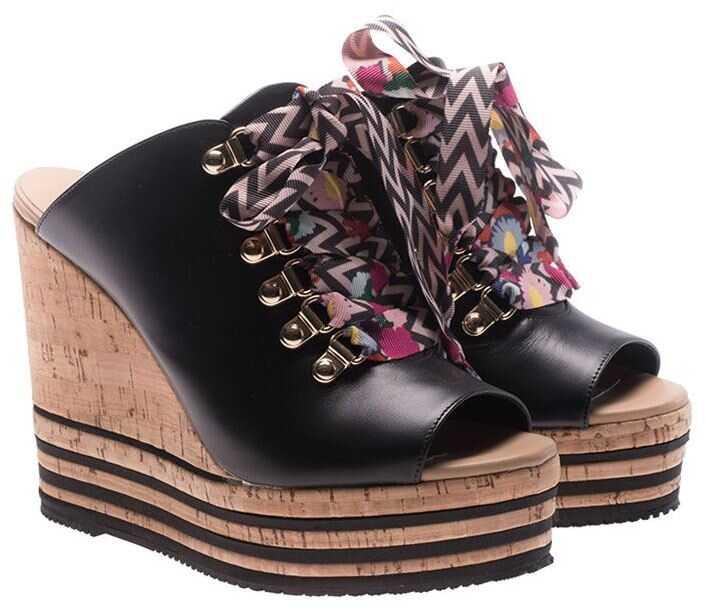 Hogan Black Leather H361 Mules Black