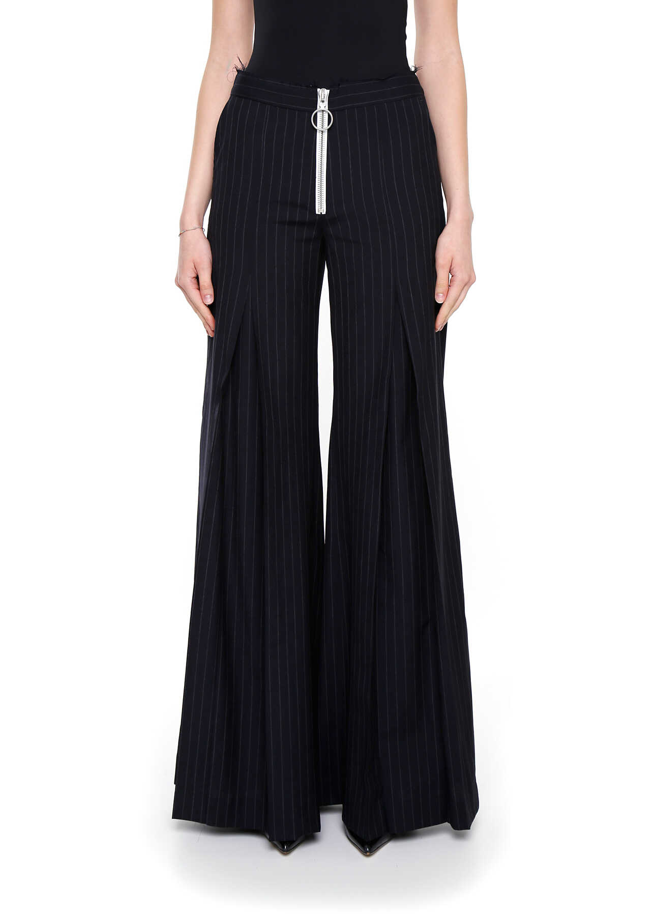Off-White Pinstriped Trousers DARK BLUE