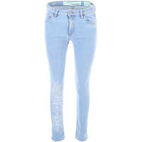 Blugi Off-White Embroidered Skinny Jeans