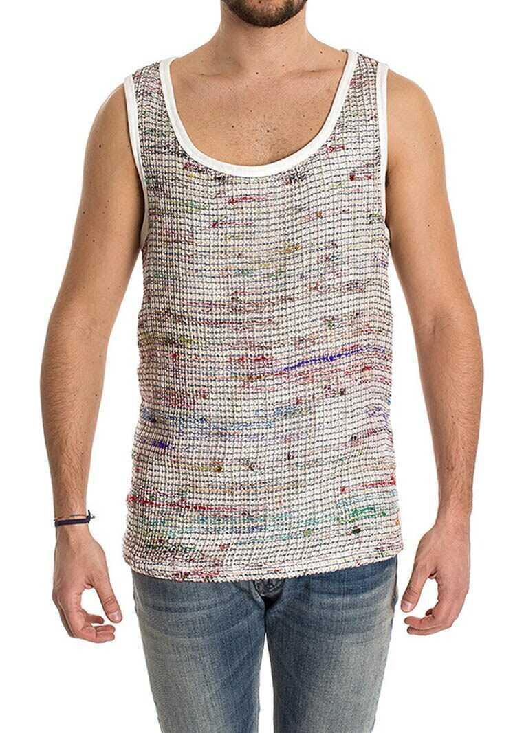 Ribbon Clothing Silk Tank Top Multi
