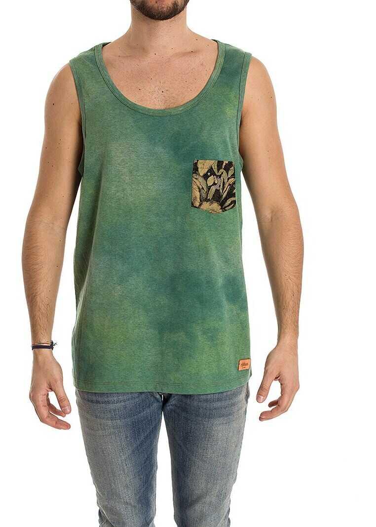 Ribbon Clothing Unisex Tank Top Green