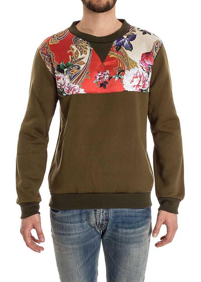 Ribbon Clothing Cotton Sweatshirt Green