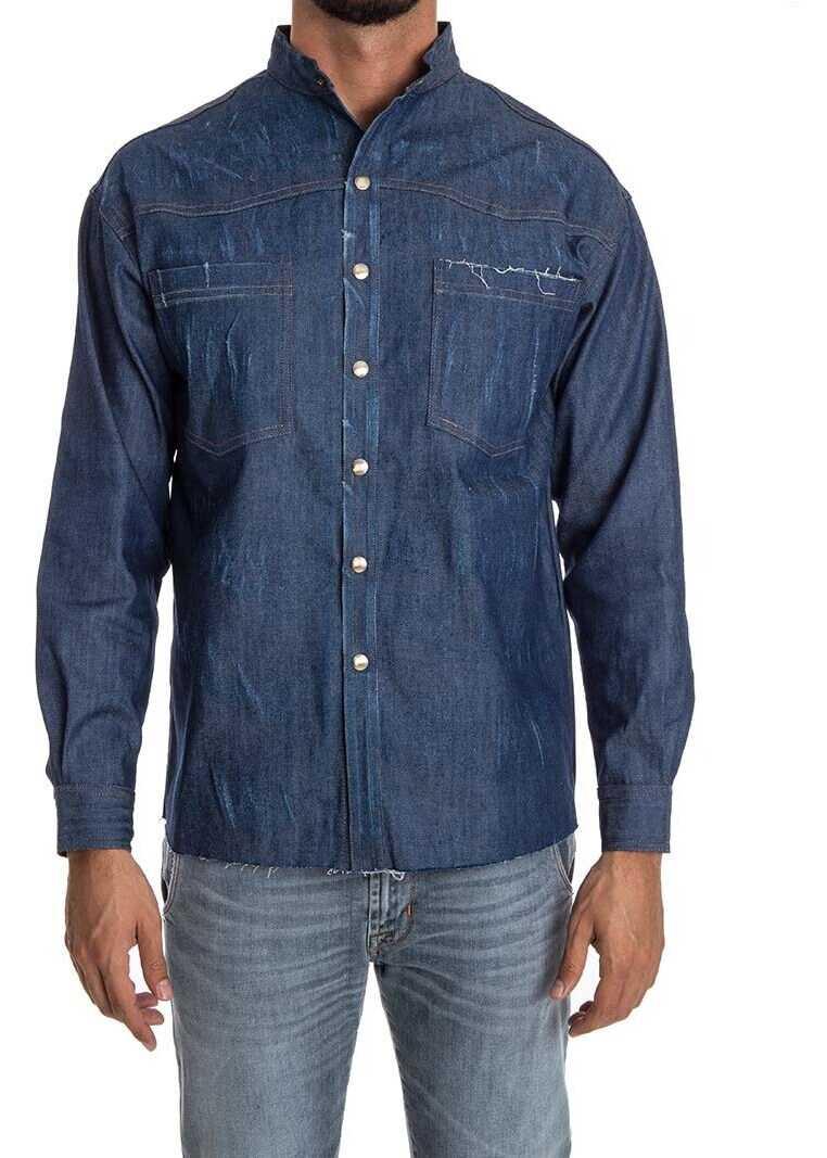 Ribbon Clothing Denim Shirt Blue imagine
