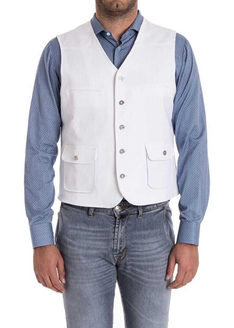 Ribbon Clothing Cotton Waistcoat White imagine