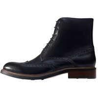 Ghete & Cizme Brogue Details Boots In Black Barbati