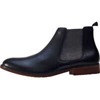 Ghete & Cizme Side Elastic Chelsea Boots In Black Barbati