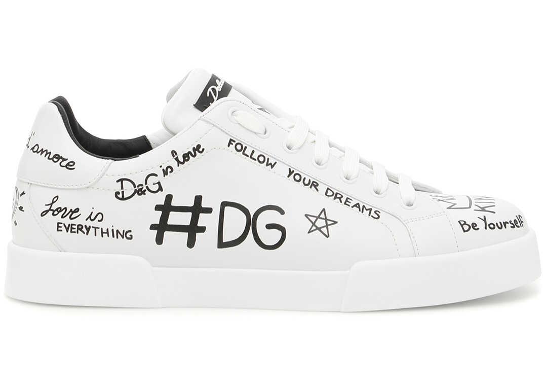 Dolce & Gabbana SCRITTE F.DO BIANCO