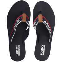 Sandale Tommy Jeans Mid Beach Sandals In Navy Red White Femei
