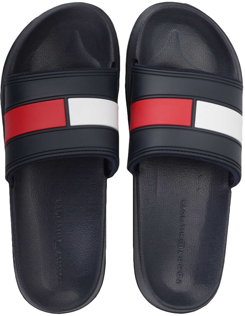 Tommy Hilfiger Flag Pool Slide In Navy Red White Blue