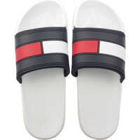 Slapi Tommy Hilfiger Flag Pool Slide In White Navy Red