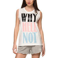 Bluze Singlet Cidelan Women's White Top Femei