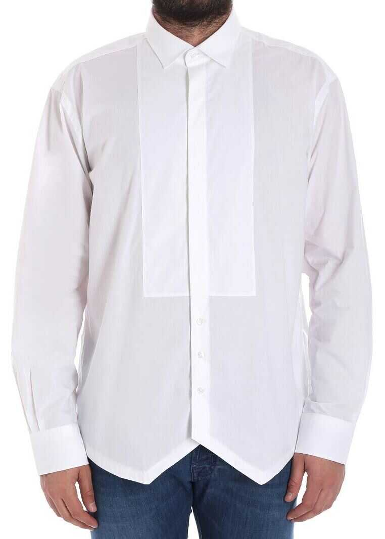 Karl Lagerfeld White Shirt With Plastron White imagine