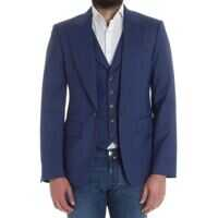 Sacouri office Blue Light Wool Jacket Barbati