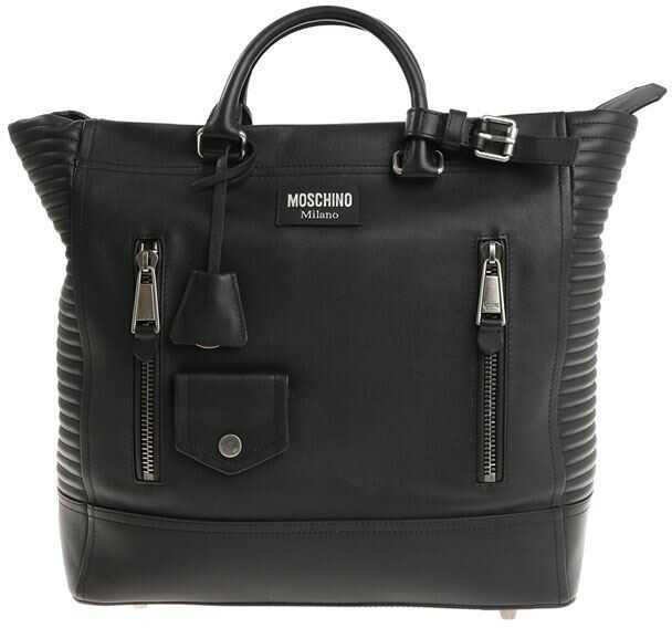 Moschino Black Leather Bag Black