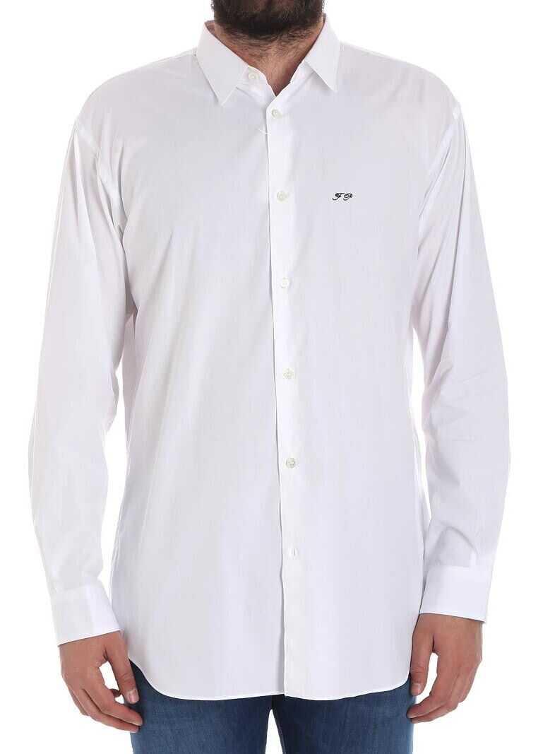 Comme des Garçons White Cotton Shirt White imagine
