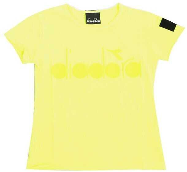 Tricouri Baieti Diadora Neon Yellow T-Shirt With Logo