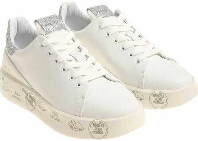 Premiata Belle Sneakers In White White