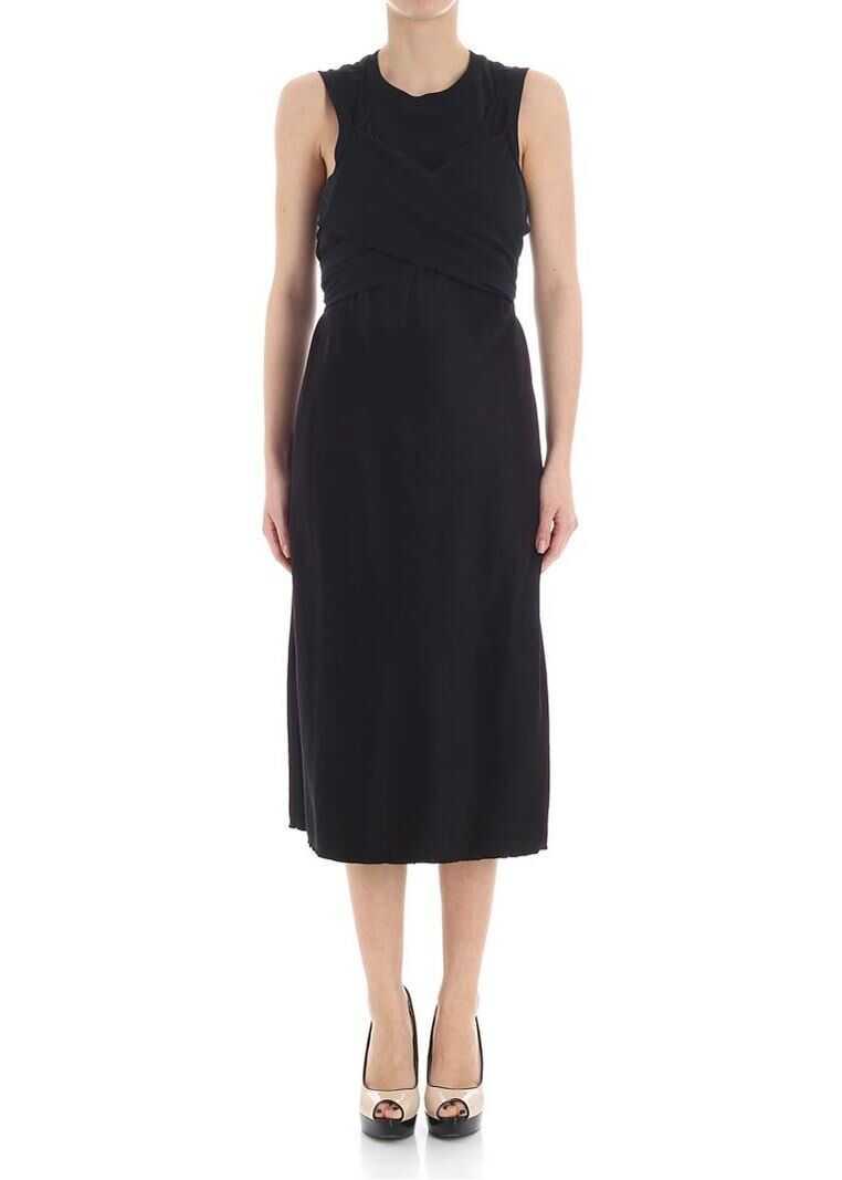 Alexander Wang Black Satin Dress With Cut-Out Black