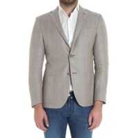 Jachete Beige Jacket With Gray Embroideries Barbati