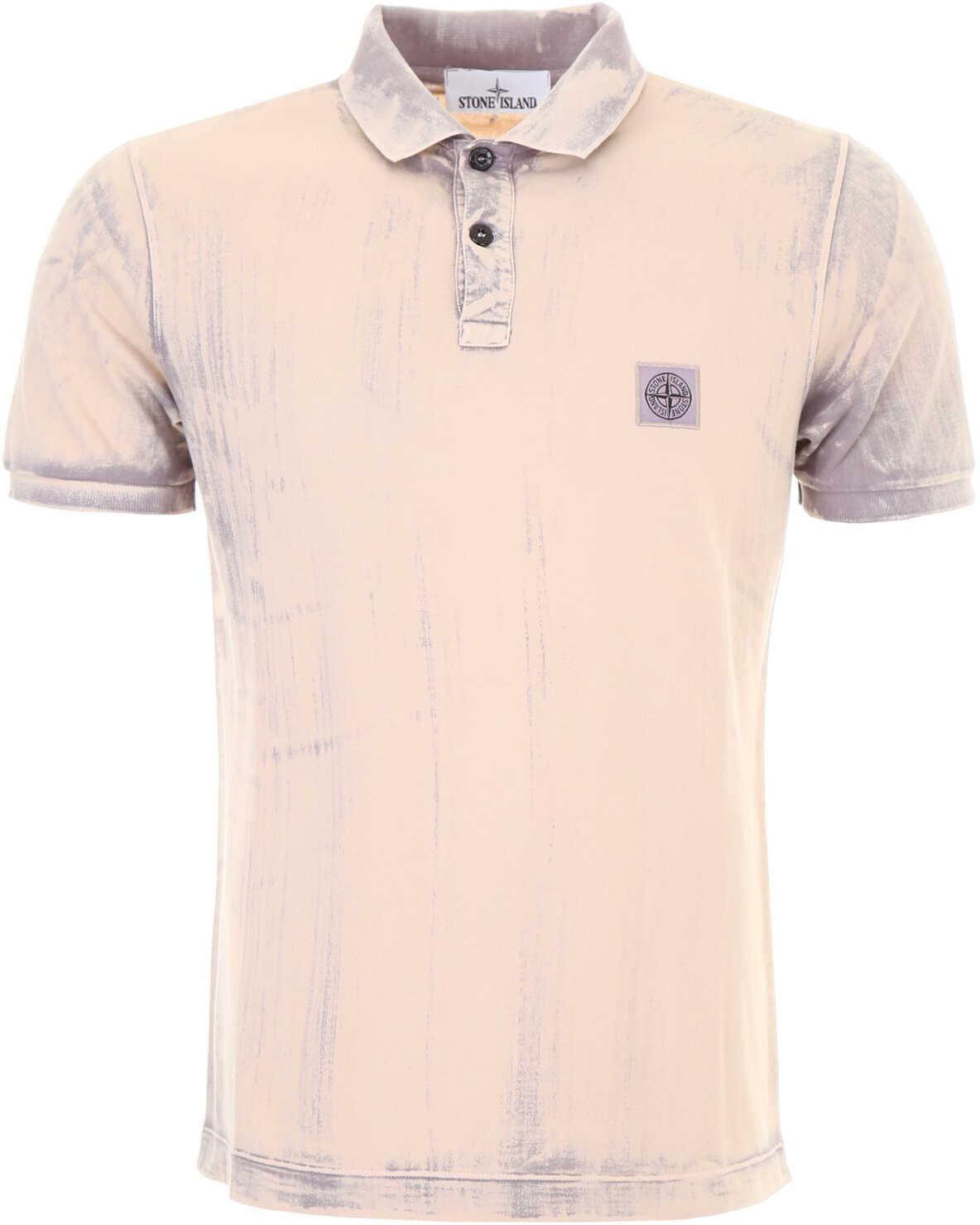 Stone Island Tie And Dye Polo Shirt SALMON