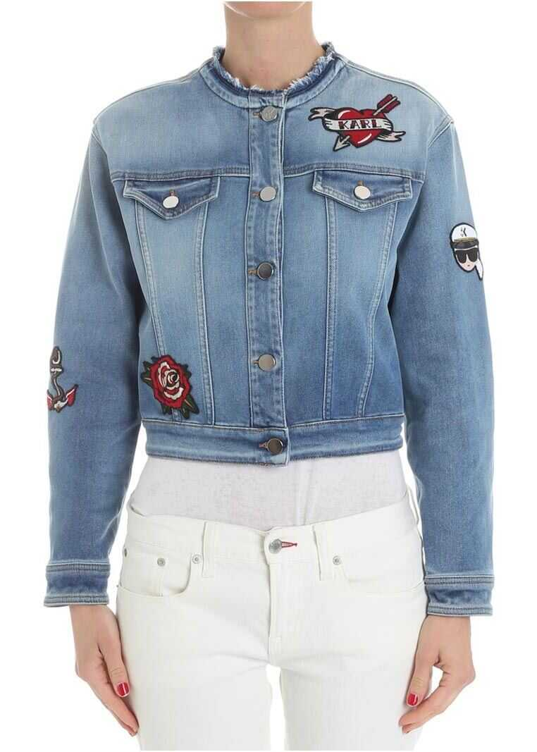 Karl Lagerfeld Denim Jacket Light Blue