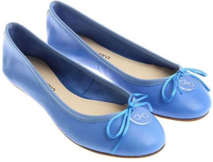 Anna Baiguera Light-Blue Ballerinas With Bow Light Blue