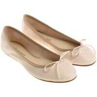 Balerini casual Nude Ballerinas With Bow Femei