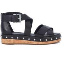 Sandale Sandalo Michael Kors Darby In Pelle Nera Con Borchie Femei