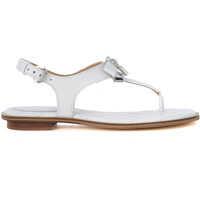 Sandale Sandalo Michael Kors Alice In Pelle Bianca Con Fiocco E Ciondolo Femei