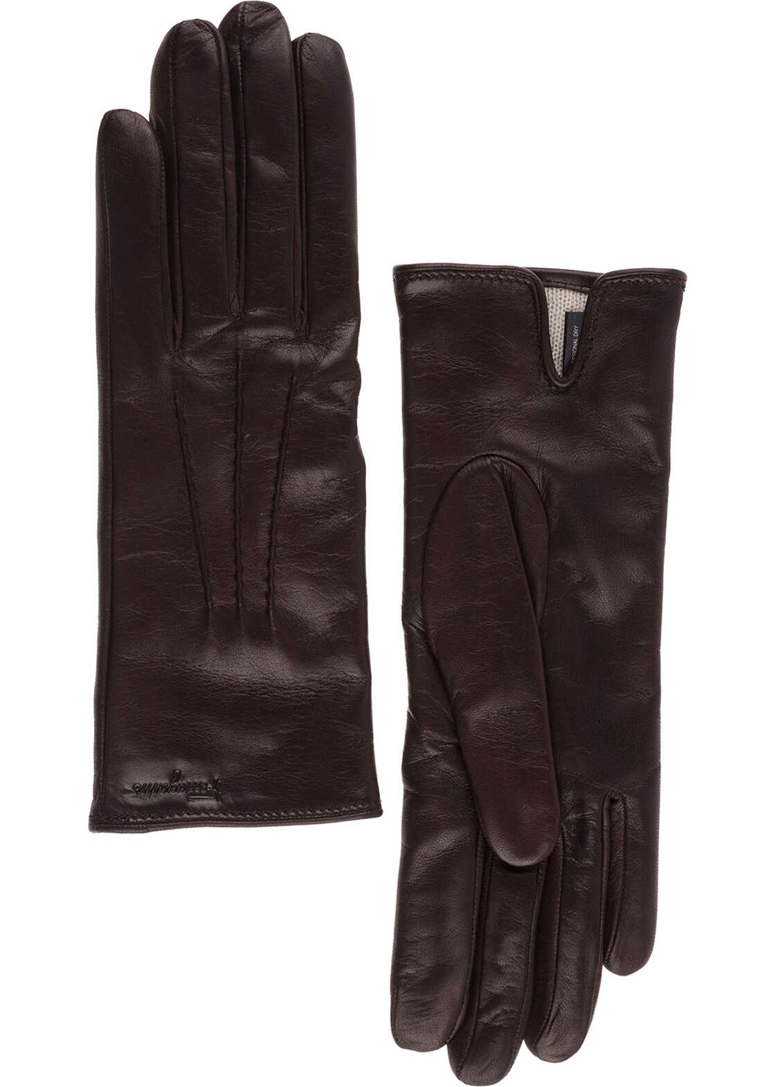 Salvatore Ferragamo Leather Gloves Brown