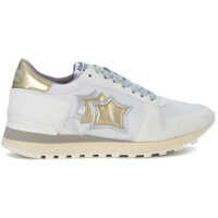 Tenisi & Adidasi Alhena White, Gold And Silver Leather Sneakers* Femei