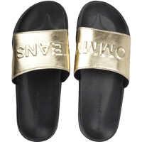 Slapi Tj Metallic Pool Slide In Gold Black* Femei