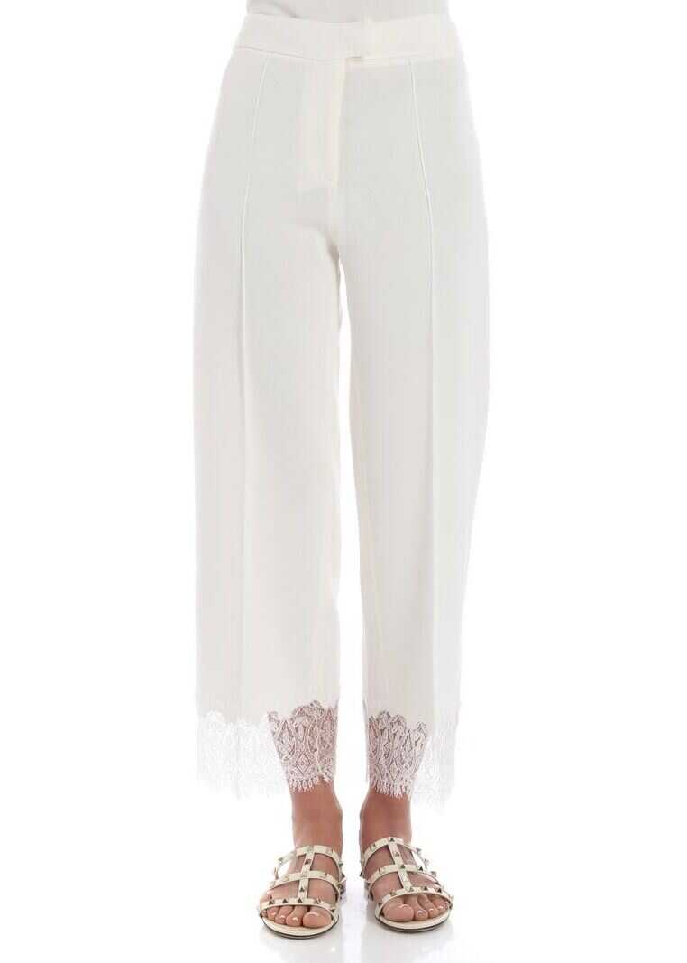 Ermanno Scervino Ivory Crop Trousers White