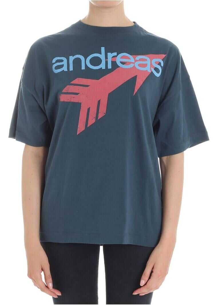 Vivienne Westwood Teal T-Shirt With Logo Oil
