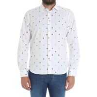Camasi Paul Smith White Shirt With All-Over Prints