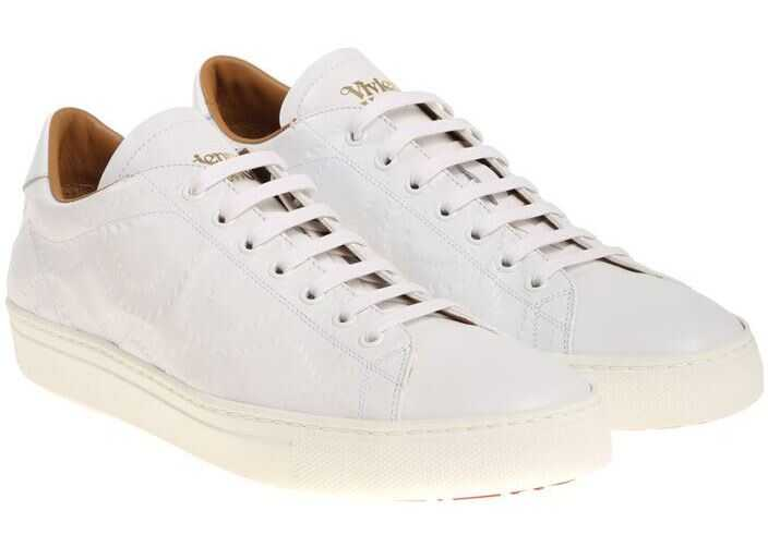 Vivienne Westwood White 3D Leather Sneakers White