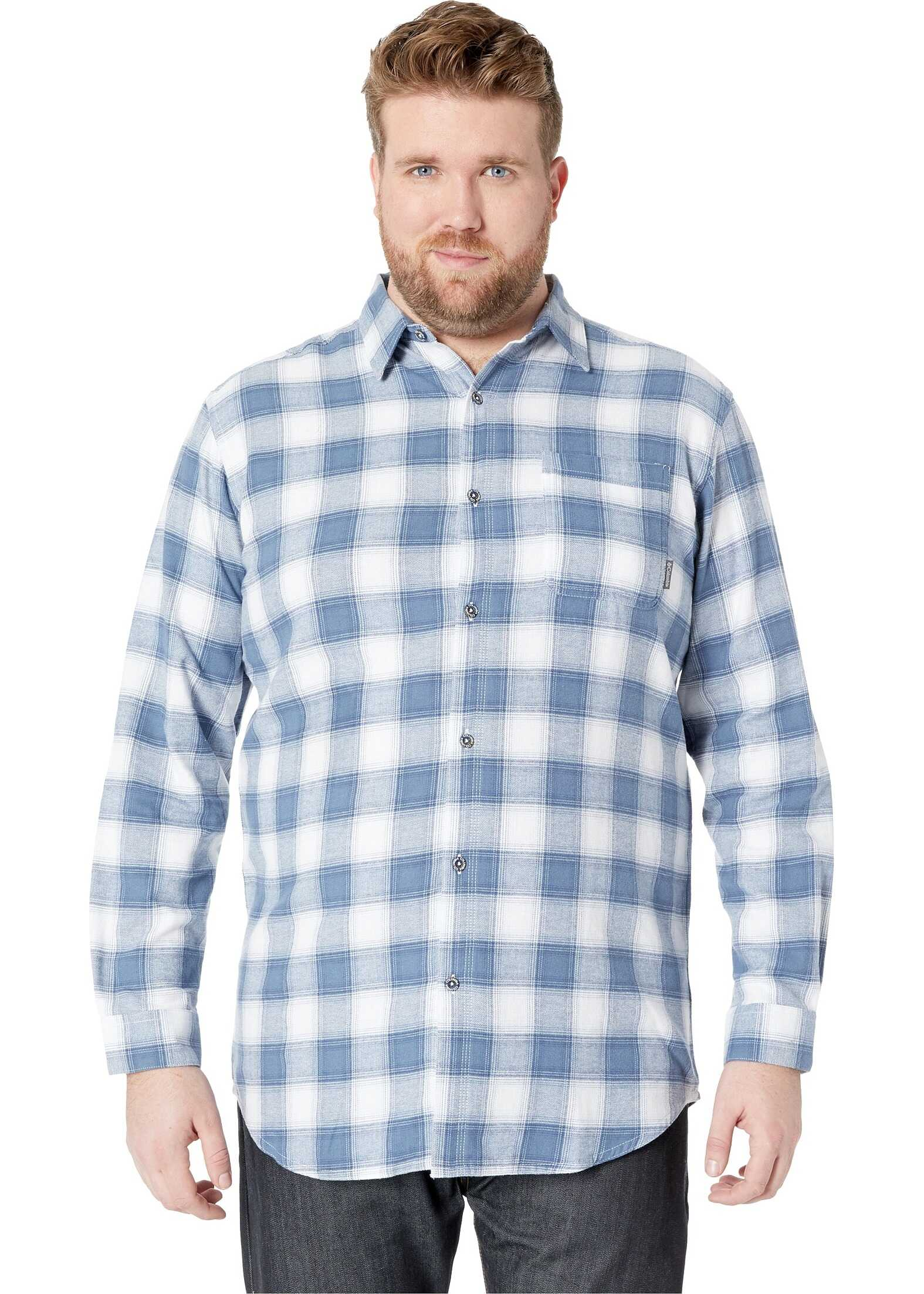 Columbia Big & Tall Boulder Ridge Long Sleeve Flannel Mountain Pop Plaid