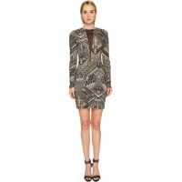 Rochii Jersey Geo Animal Long Sleeve Dress Femei