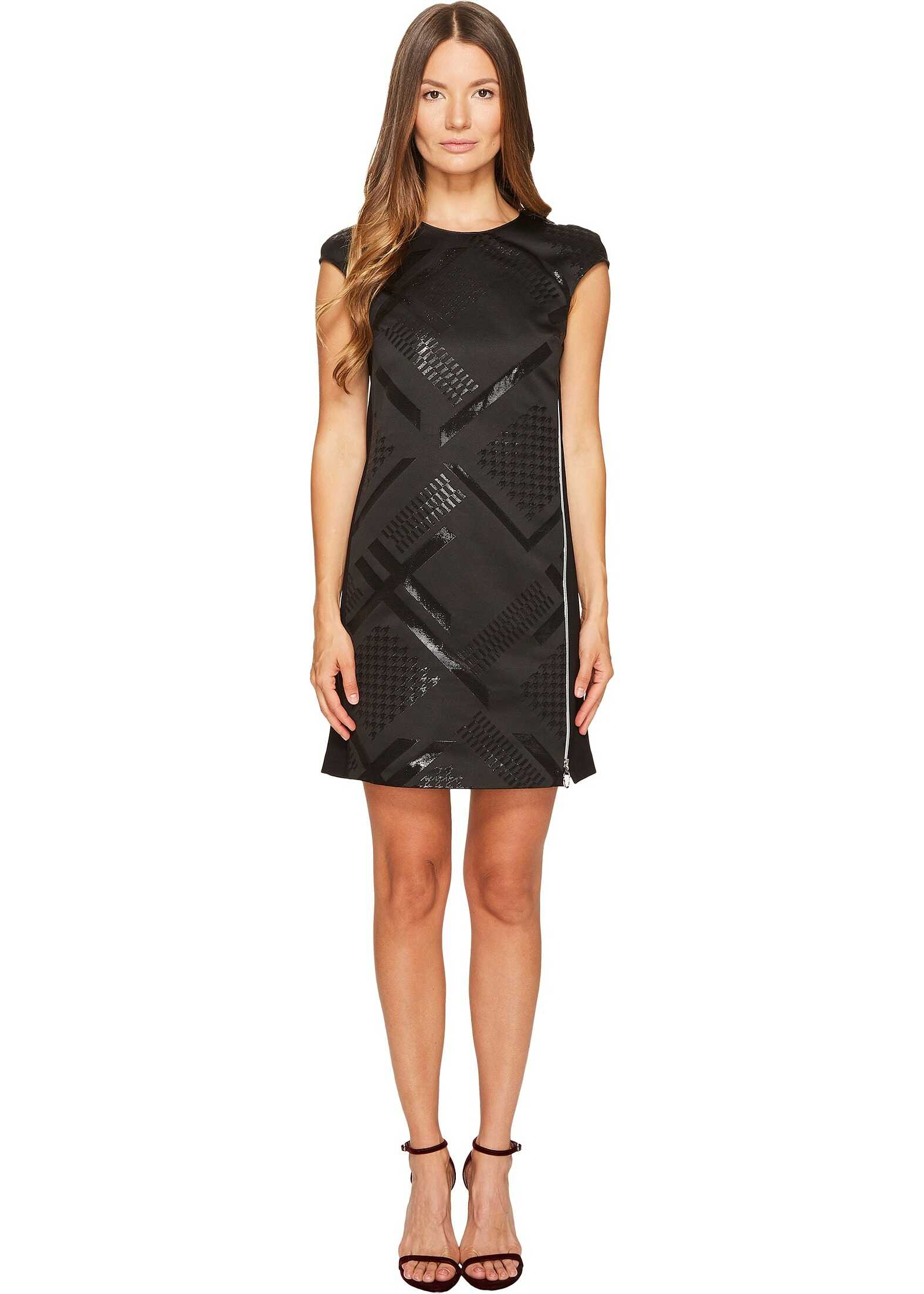 Versace Jeans Sleeveless Geo Dress Nero
