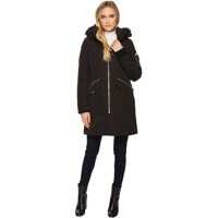 Geci de Iarna Parka with Detachable Fur Trimmed Hood Femei