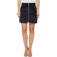 Fuste Zip Front Mini Skirt in Navy Femei