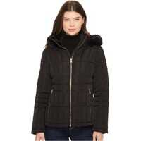 Geci de Iarna Calvin Klein Puffer Short with Detachable Fur Trimmed Hood