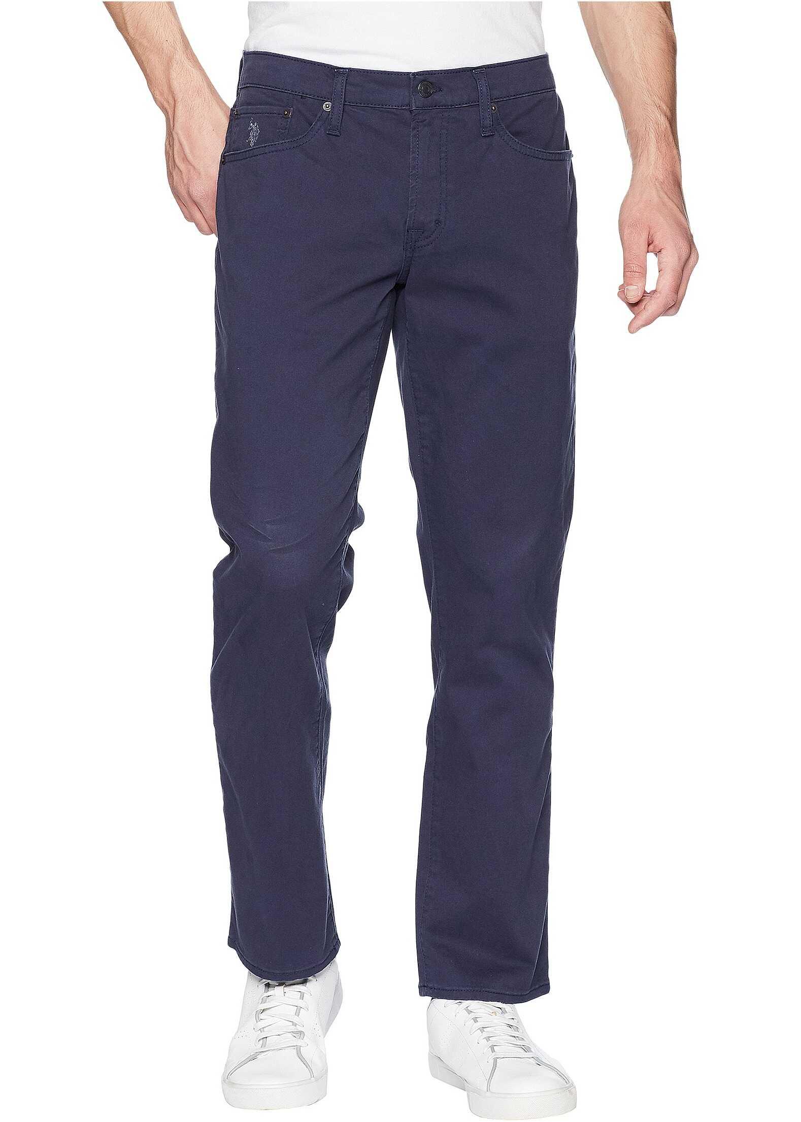 U.S. POLO ASSN. Slim Straight Stretch Five-Pocket Pants Club Navy