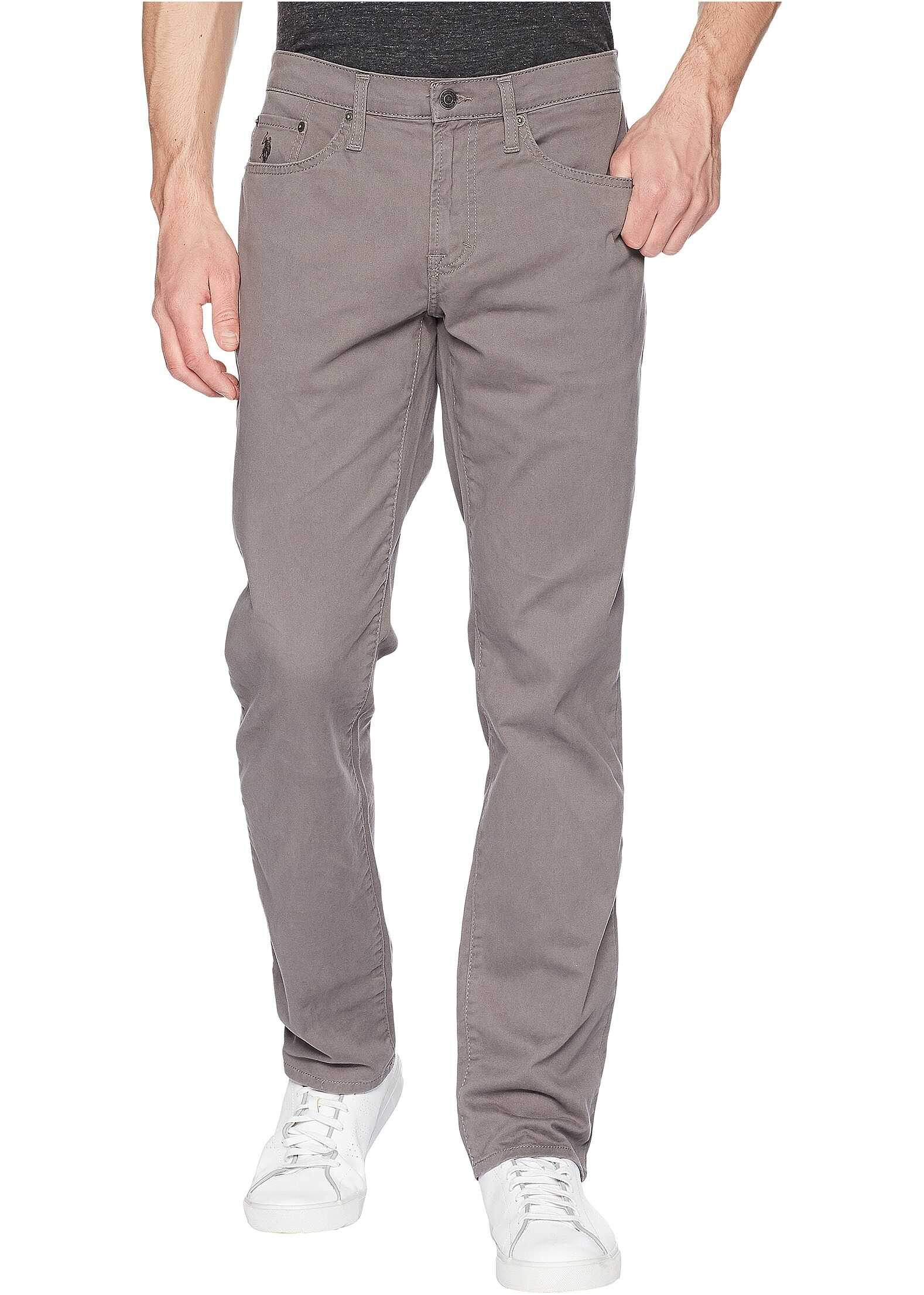 U.S. POLO ASSN. Slim Straight Stretch Five-Pocket Pants Grey Matter