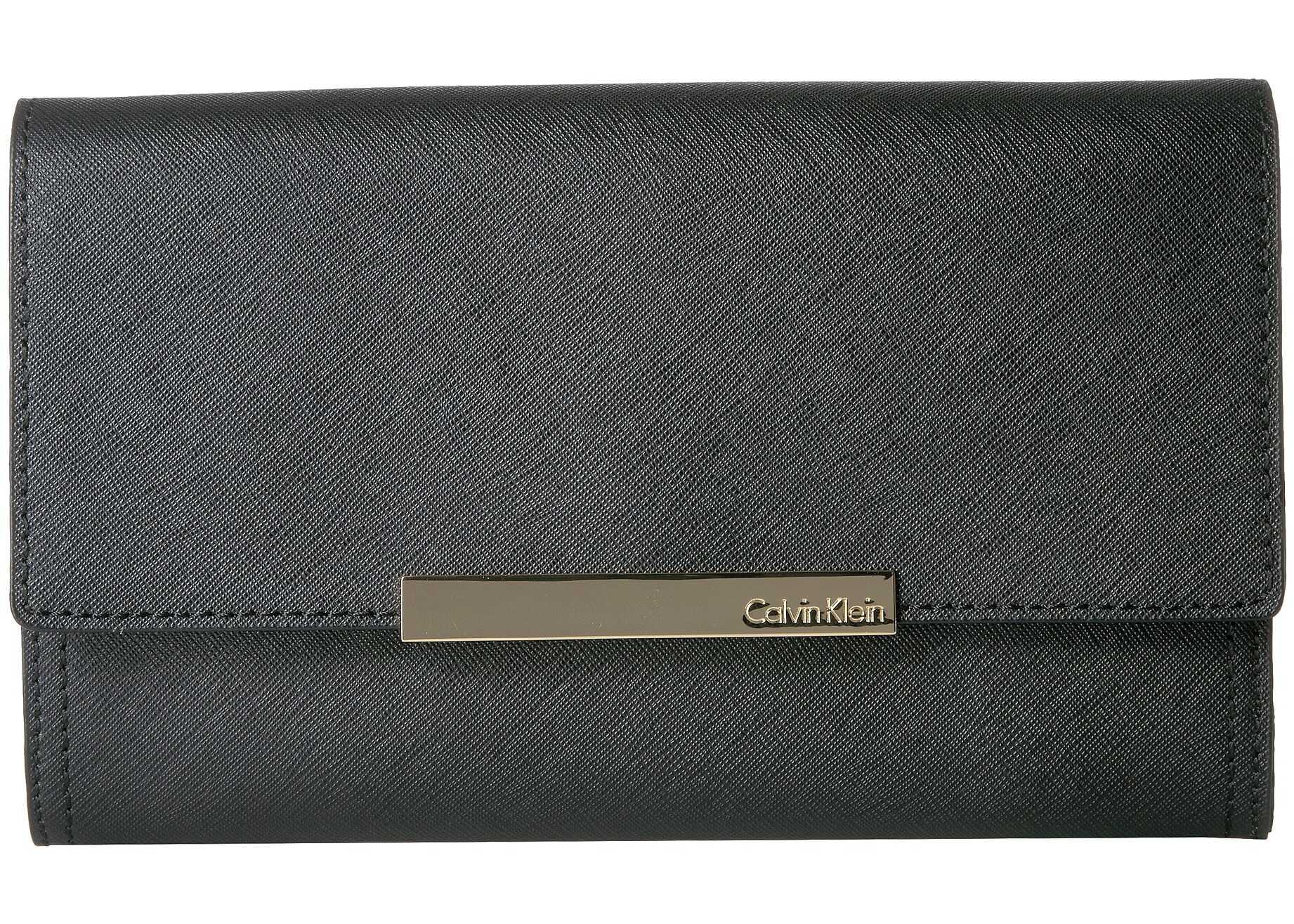 Calvin Klein Evening Saffiano Clutch Black/Gold