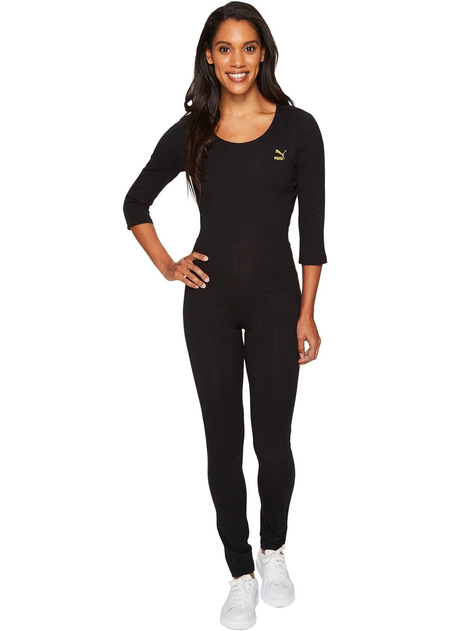 PUMA T7 Jumpsuit PUMA Black/Gold Print