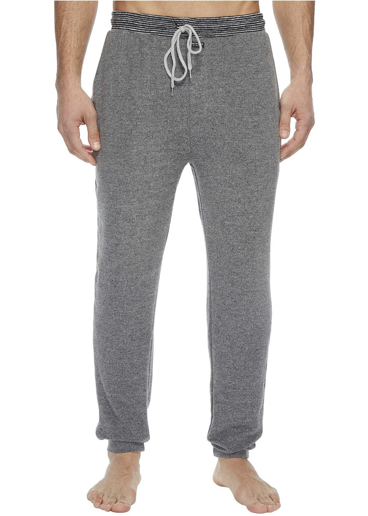 Kenneth Cole Reaction Jogger with Stripe Waistband Dark Grey Heather