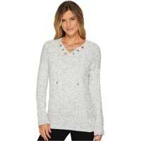 Pulovere Flecked Lace-Up Sweater Femei