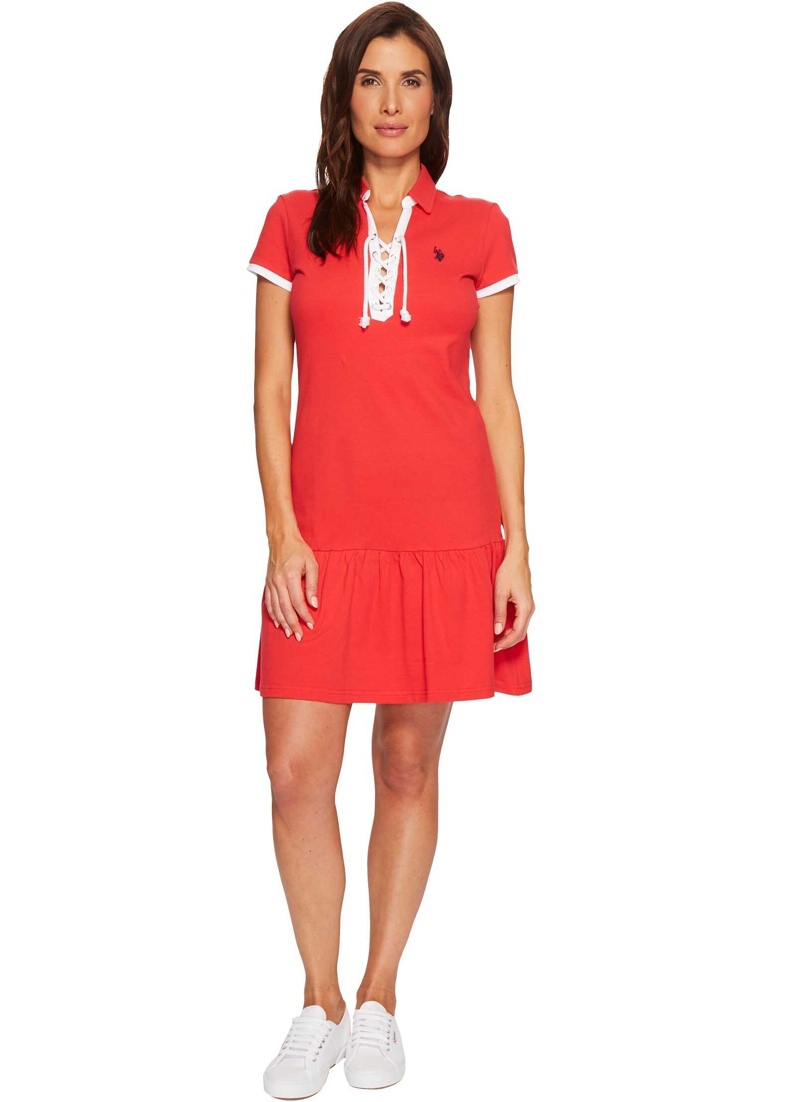 U.S. POLO ASSN. Birdeye Pique Polo Dress Lolipop
