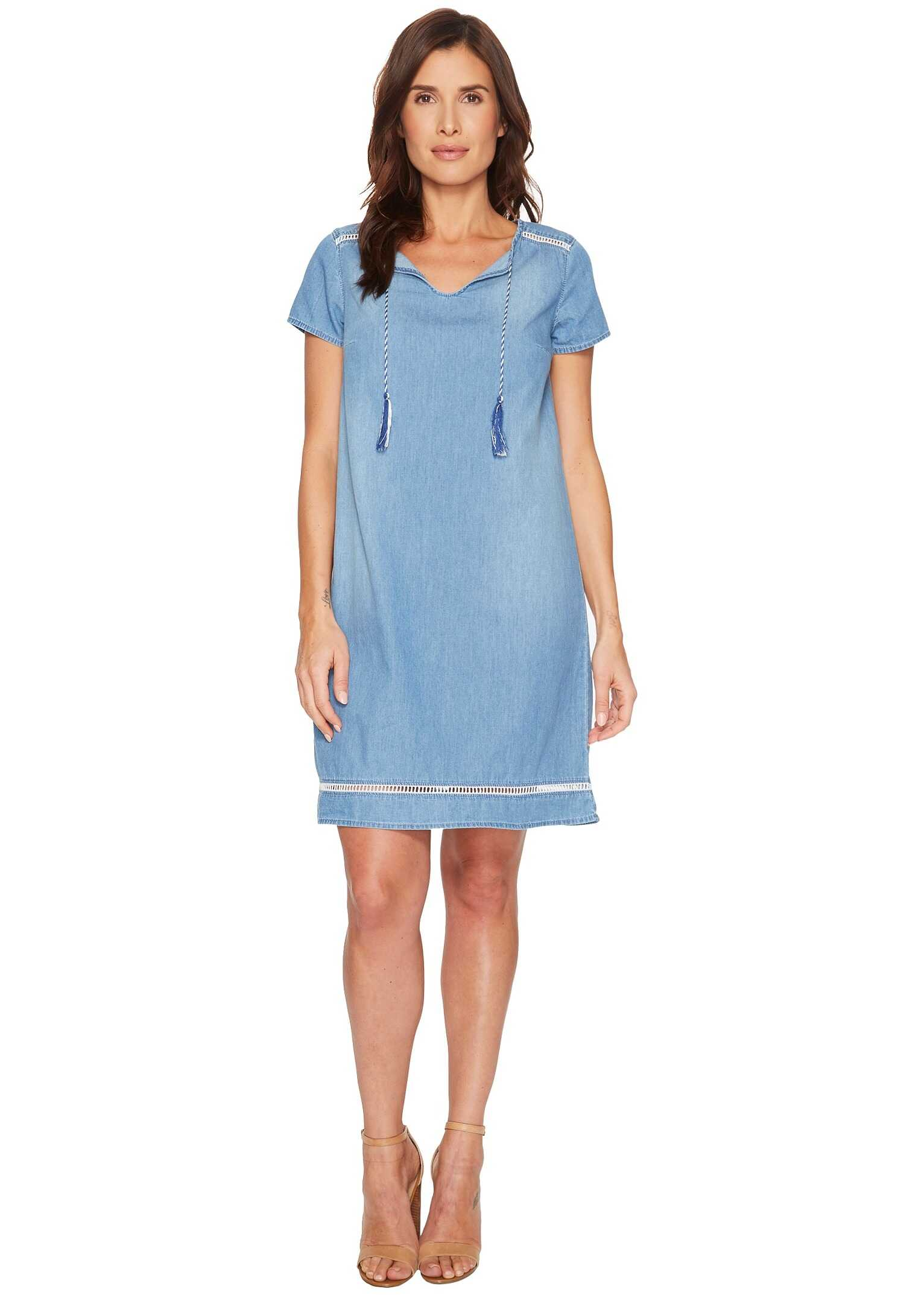 U.S. POLO ASSN. Short Sleeve Denim Tassel Dress Atlas